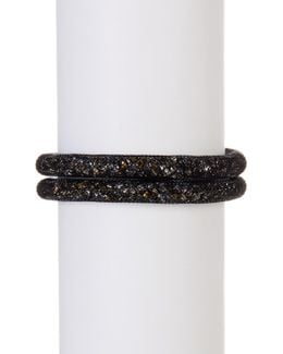 Stardust Crystal Filled Mesh Tube Wrap Bracelet