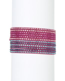 Slake Multi Row Crystal Wrap Bracelet