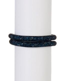 Stardust Green Crystal Detail Wrap Bracelet