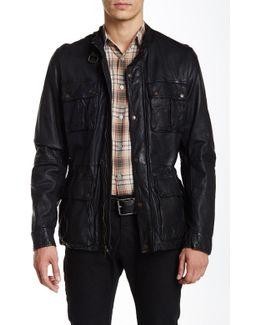 Genuine Leather Vintage Moto Jacket