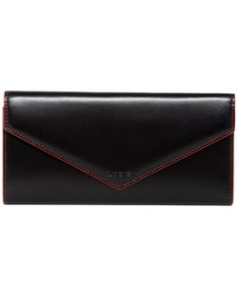 Alix Foldover Leather Wallet