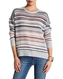 Stripe Cashmere Blend Sweater