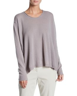 Luxe Swing Crew Neck Cashmere Sweater