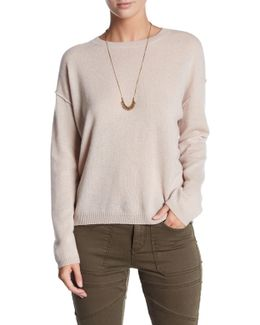 Long Sleeve Cashmere Crew Neck Sweater