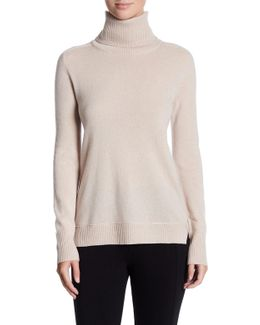 Turtleneck Long Sleeve Cashmere Sweater