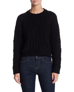 Carlie Luxe Crew Neck Cashmere Sweater