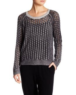 Open Knit Cashmere Sweater