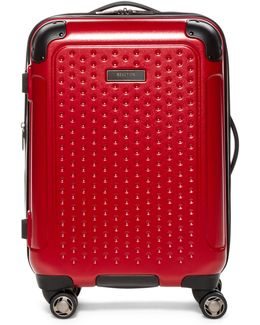 """20"""" Embossed Dot Hardside Carry-on Suitcase"""