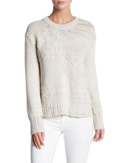 Embroidery Crew Neck Sweater