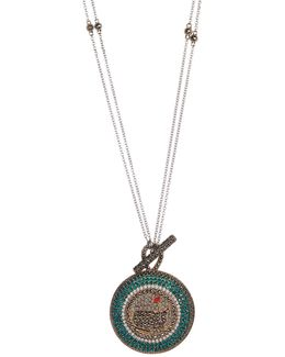 Multicolor Crystal Pendant Necklace