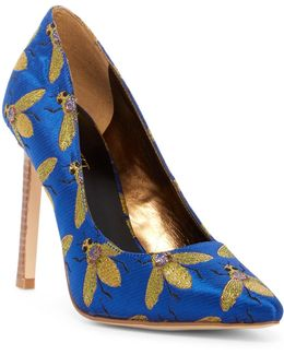 Tatiana Bee Jacquard Pointed Toe Pump