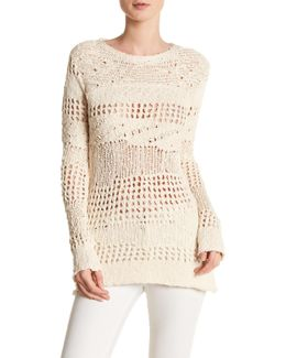 Long Sleeve Crochet Sweater