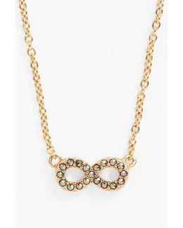 Mini Motives Boxed Reversible Infinity Pendant Necklace