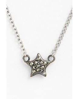 Mini Motives Reversible Pave Star Pendant Necklace