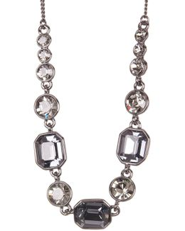 Square Stone Crystal Necklace