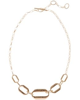 Marcasite Embellished Chain Detail Necklace