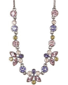 Multi Color Floral Crystal Necklace