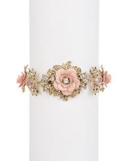 Large Floral Bracelet