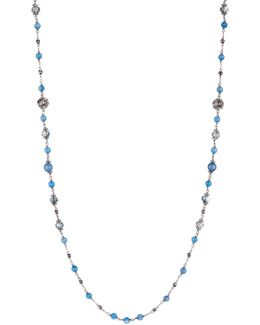 Crystal & Marcasite Bead Double Layer Necklace