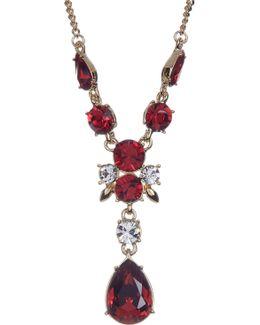 Crystal Accented Y-necklace