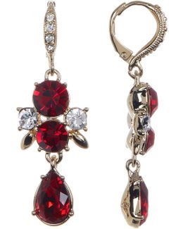 Crystal Accented Drop Earrings