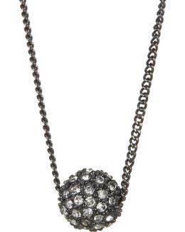 Embellished Fireball Pendant Necklace