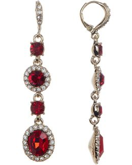 Crystal Accented Earrings