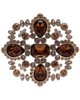Crystal Accented Cluster Brooch