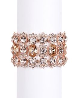 Crystal Accented Drama Bracelet