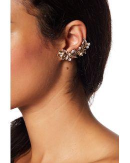Crystal Mismatch Crawler Earrings