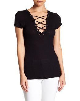 Ednie Lattice V-neck Shirt