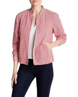 Gingham Zip Jacket