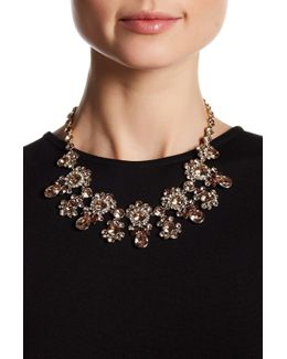 Crystal Accented Drama Collar Necklace