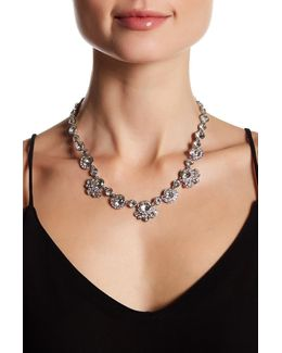 Crystal Accented Collar Necklace