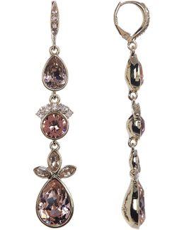 Crystal Stone Linear Earrings