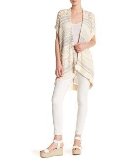 Short Sleeve Crochet Gilet
