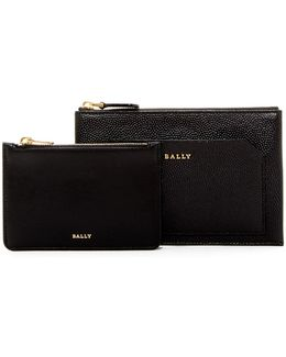 Charles Leather Clutch