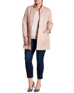 Diamond Quilted Zip Jacket (plus Size)