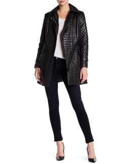 Asymmetrical Zip Quilted Jacket