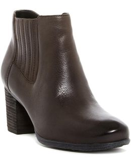 Britney Gore Leather Ankle Boot