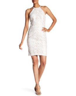 Halter Lace Sheath Dress