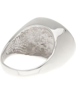 Sterling Silver Dome Ring - Size 6