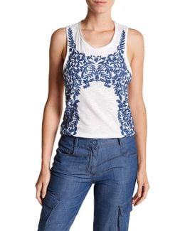 Embroidered Knit Tank