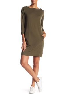 3/4 Length Sleeve French Terry Dress