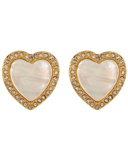 Halo Heart Clip-on Earrings