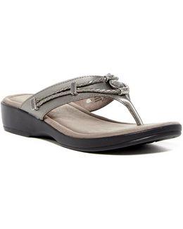 Starla Wedge Thong Sandal