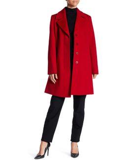 Notch Collar Wool Coat