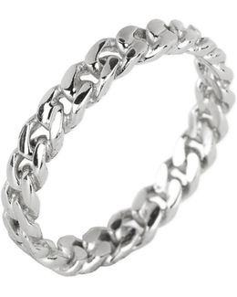 Sterling Silver Twisted Band Ring - Size 9