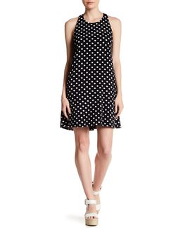 Twist Back Equator Dot Dress