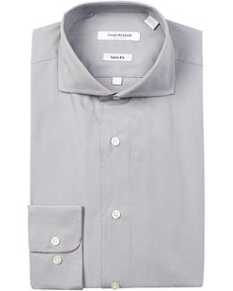 Solid Broadcloth Slim Fit Dress Shirt